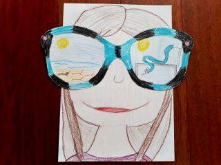 Letné okuliarnaté obrázky