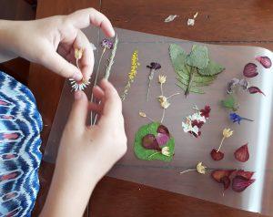 kvetinové záložky do knihy