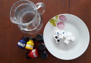 cukor, voda, tuš