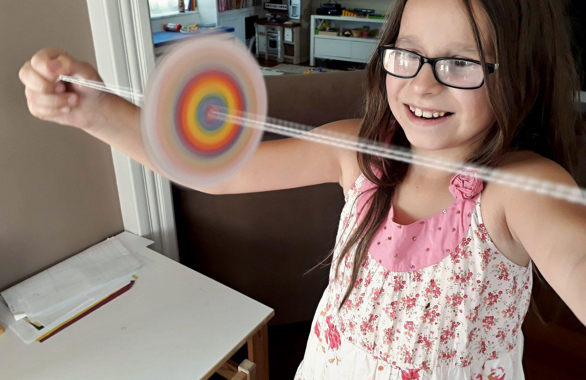 optické hračky spinner