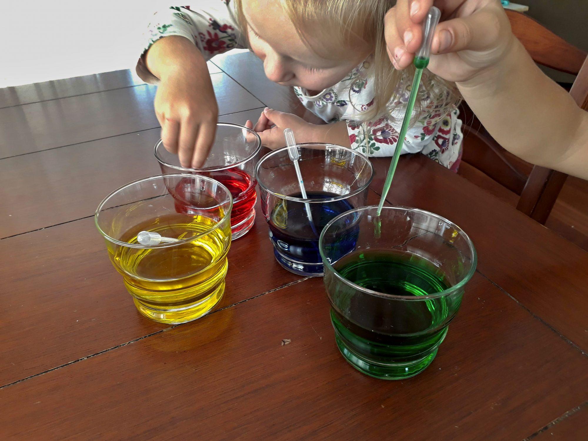 olej s vodou pokus