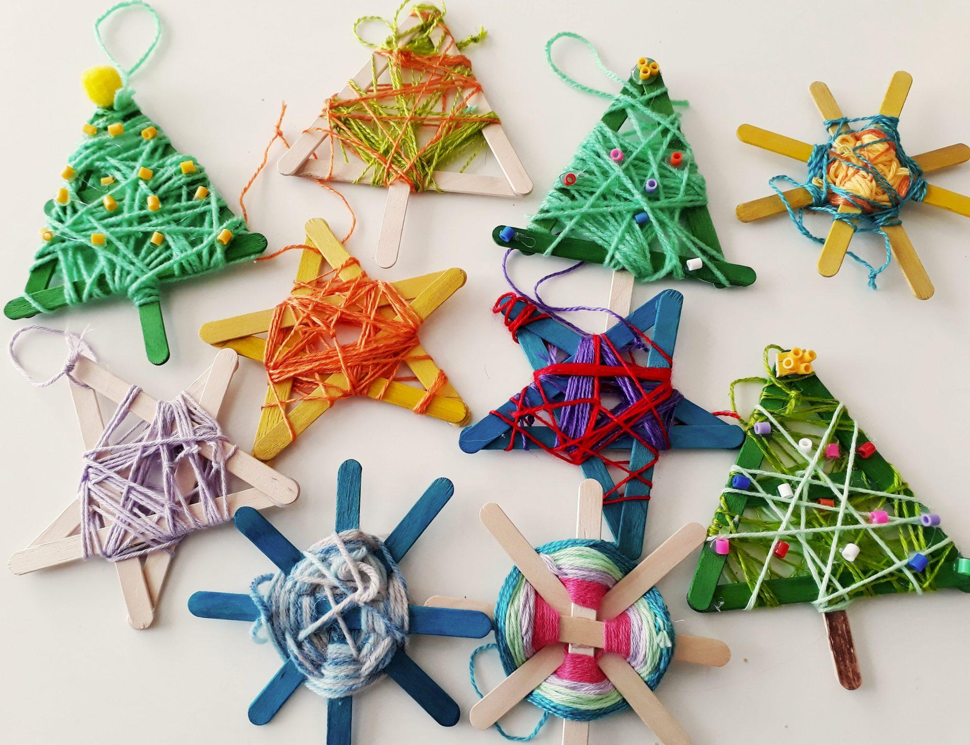 Namotané, zamotané vianočné ozdoby