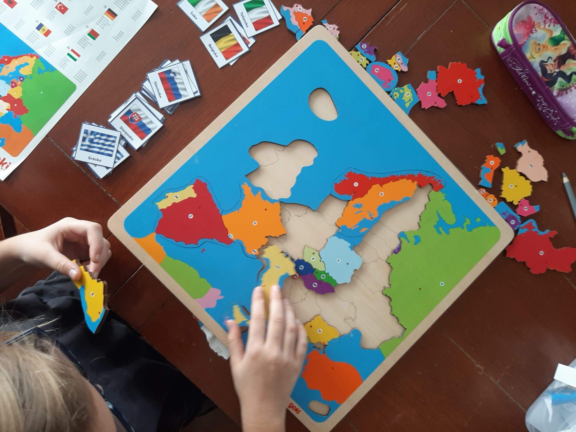 mapa europy puzzle